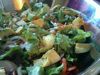 Sunny Avocado and Pumpkin Seed Salad